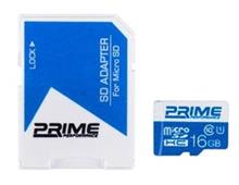 Prime UHS-I U1 Class 10 16GB 48MBps microSDHC With Adapter